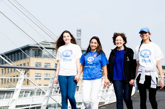 Plan Uk Supporter - Hilary French encourages school to walk to help girls across the world access an education.JPG